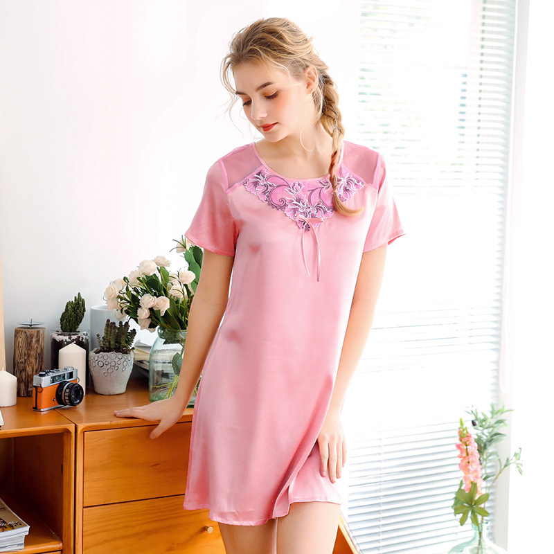 New Women's Summer Robe Bathrobe Ladies Rayon Bath Gown Yukata   Nightgown     Sleepshirts   Home Night Dress Pijama Mujer M-XL