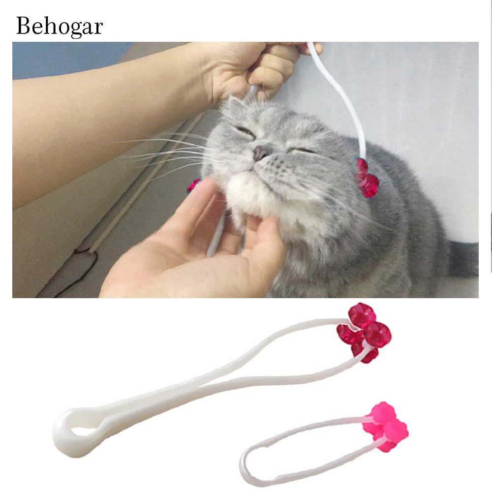 Behogar 2 pcs Massage Roller Relaxer Tool Exquisite Thin Face Feet and Legs Cat Grooming Massager Supplier for Kitty Pet Toy