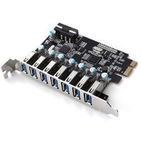Super Speed PCI E To USB 3 0 7 Ports Superspeed PCI E Expansion Card PCI