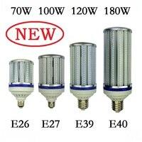 70 Вт 100 W 120 W 180 W E27 E40 Светодиодный лампочки E26 E39 уличное освещение высокой яркости 110 V 220 V кукурузы лампа для склада инженер квадратных