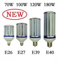 70W 100W 120W 180W E27 E40 LED Bulb Light E26 E39 street lighting High Bright 110V 220V Corn Lamp for Warehouse Engineer Square