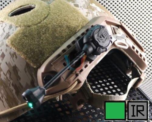 Tático airsoft capacete lanterna princeton tec mpls2