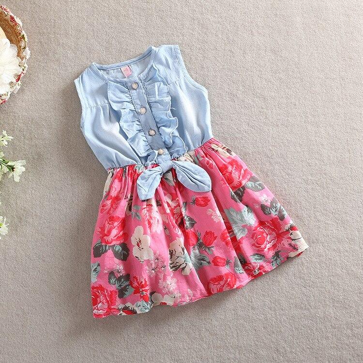 2015 new children clothing summer baby girl cotton flower