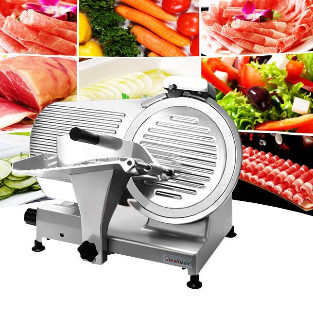 18 Commercial 10 inch Automatic Frozen Meat Slicer Machine,Lamb, beef Slicer,Aluminium-magnesium Alloy Material Meat Cutter
