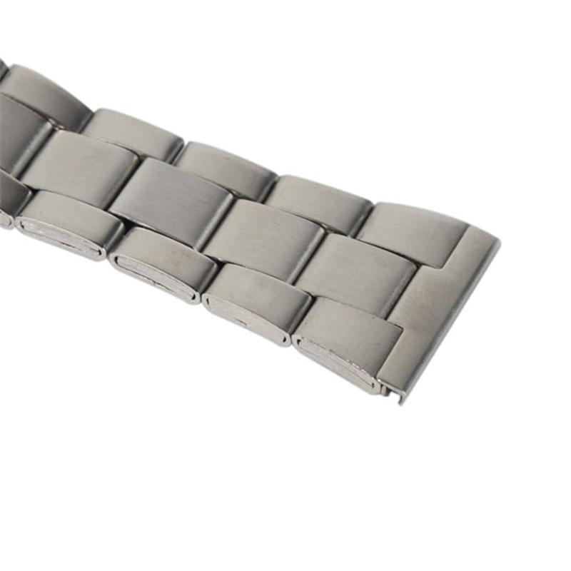 12/16/18/20/22 / 24mm en acier inoxydable liens solides bracelets de - Accessoires montres - Photo 4