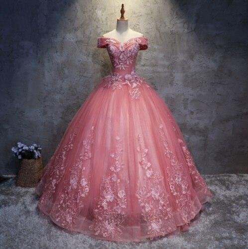 Nouvelle robe Quinceanera robes longues bal formel robe de mariée de bal personnalisé