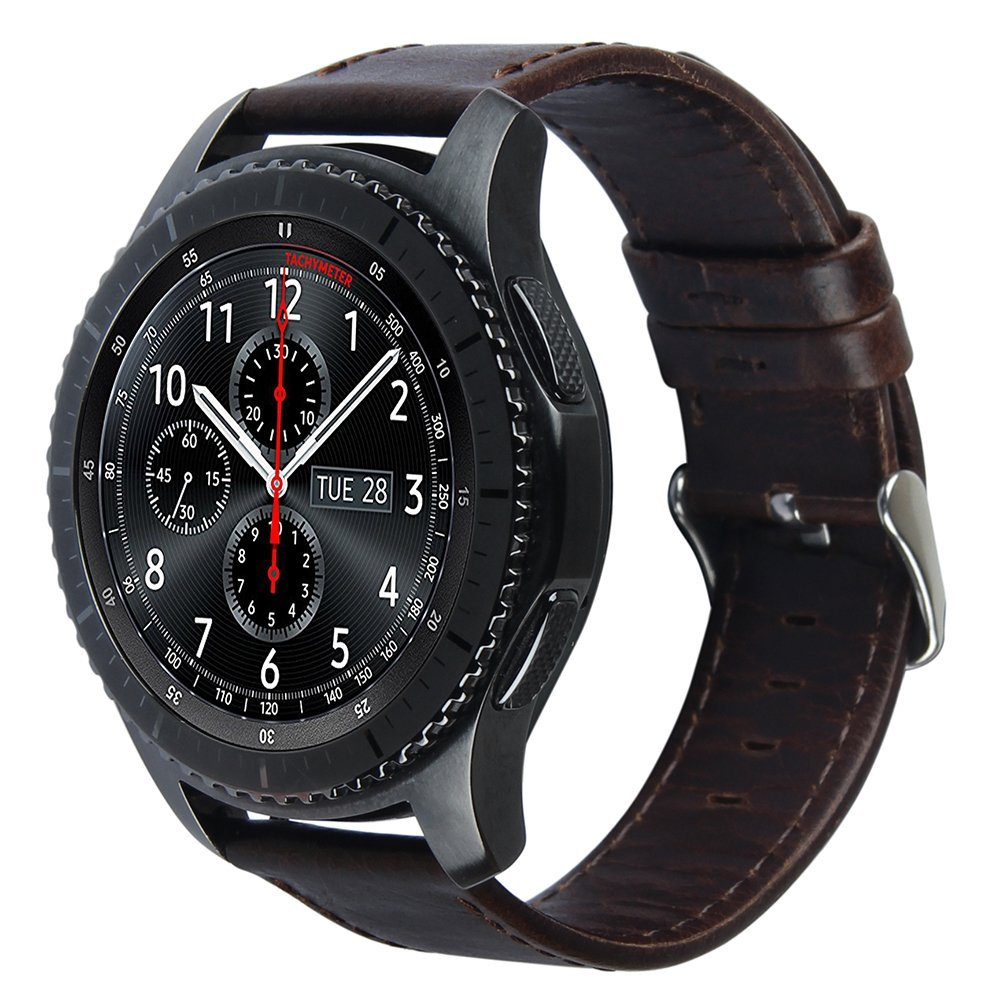 EIMO 22mm Genuine Leather band For Samsung Gear S3 Strap bracelet Leather Metal button buck band wrist Belt watch Accessories crested genuine leather strap for samsung gear s3 watch band wrist bracelet leather watchband metal buck belt
