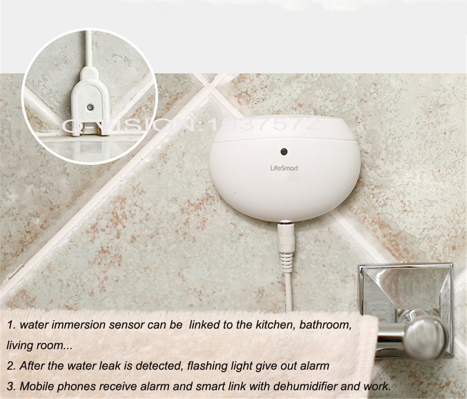 LifeSmart Water Immersion Sensor Home Prevent Water Leakage Overflow Two-way Alarm Realtime Monitor Smart Home Sensor by Phone-1