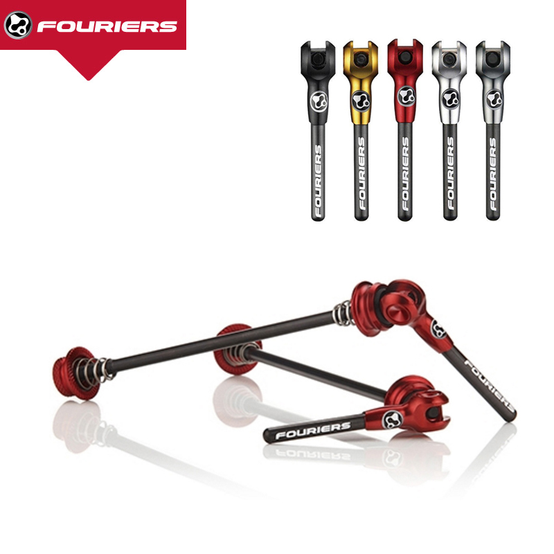 Fouriers Quick Release Titanium Axel With Carbon Lever QR Skewers For MTB Or Road Bike 100mm 130mm 135mm light alloy with carbon fiber lever quick release road mountain bike cycling wheel hub skewers set mtb quick release lever