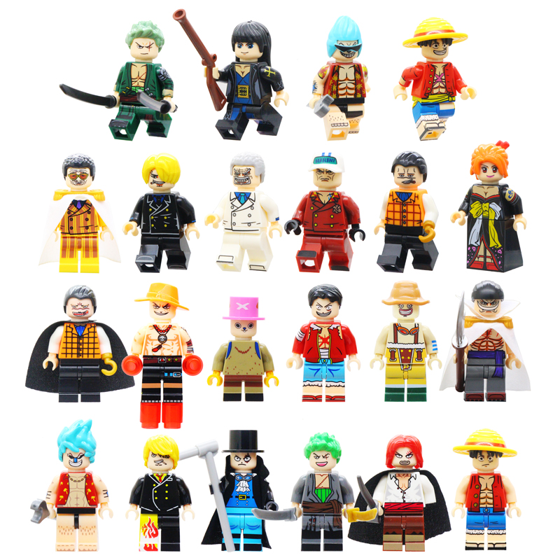 Single Sale One Piece Action Figures Roronoa Zoro Vinsmoke Sanji Building Blocks Model Toy For Children  Legoingly Building Toys