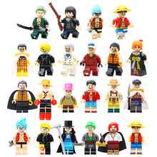 Single Sale One Piece Action Figures Building Blocks Roronoa Zoro Vinsmoke Sanji Building Blocks Model Toy For Children Gifts(China)
