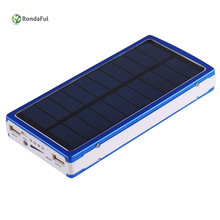 Robdaful 10000mAh Portable Solar Power Bank Externa Bateria 2 USB LED External Mobile Phone Battery Charger