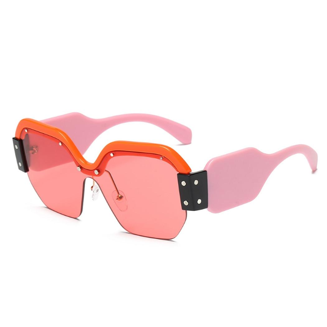2018 Marque De Luxe lunettes de Soleil Femmes Surdimensionné Grand Carré  Demi Trame Soleil Lunettes De Mode Rétro Femme Lunettes De Soleil Nuances  Gafas De ... 814ea5bb36a2
