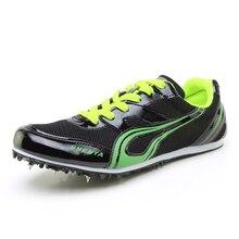 Мужская и женская спортивная обувь на шпильках для занятий спортом; спортивная обувь для подростков; Профессиональная Обувь На Шнуровке; кроссовки для прыжков