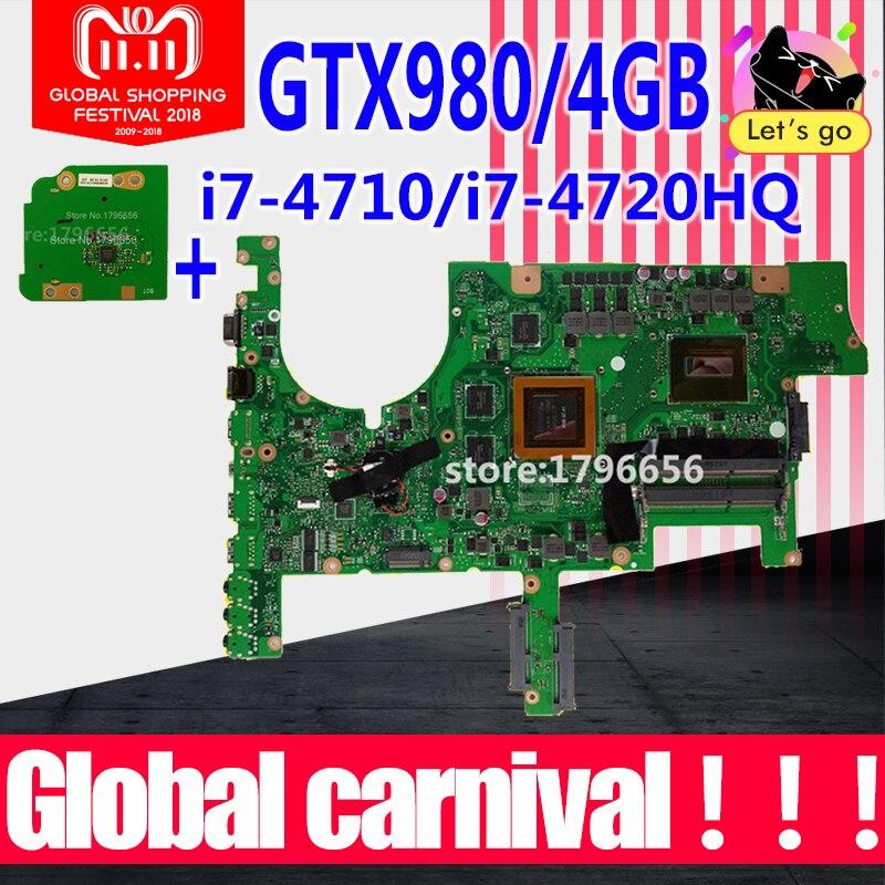 Send board+G751JT Motherboard GTX970M-i7-4710HQ For ASUS G751 G751J G751JY G751JS laptop Motherboard G751JT Mainboard test ok oem a42n1403 battery for asus rog g751 g751jt a42lm93 4icr19 66 2 gfx71jy g751jt ch71 g751j bhi7t25