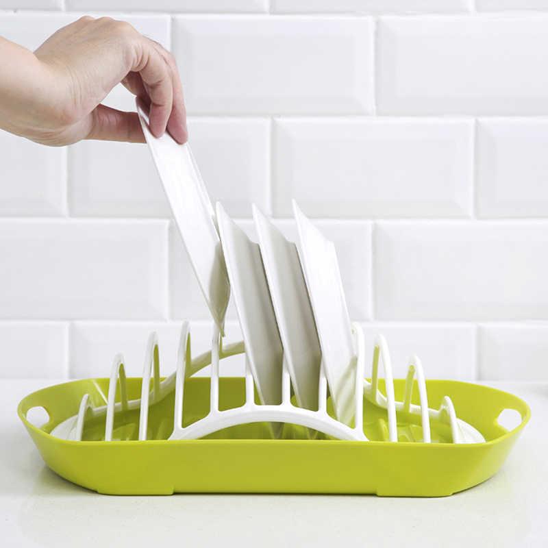 מטבח צלחת נשען מנות מתלה ניקוז בעל כלי שולחן מדף צלחת ייבוש מייבש כלים מתלה צלחת אחסון Racks