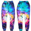 2016 New fashion harajuku pants 3D graphic print galaxy space casual sweatpants Men/Women hip hop trousers plus size S-XL