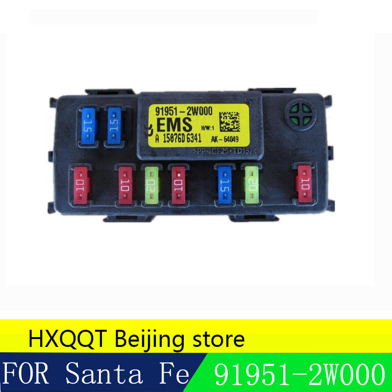 us $31 85 9% off for hyundai ix45 santa fe 2013 2018 ems junction box ems block engine compartment fuse box unit 919512w000 91951 2w000 in valves \u0026 Grand AM Fuse Box