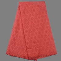 Popular wedding lace material red African 100% cotton dry fabric fabric for dress TC57-8(5yards/pc) multi color