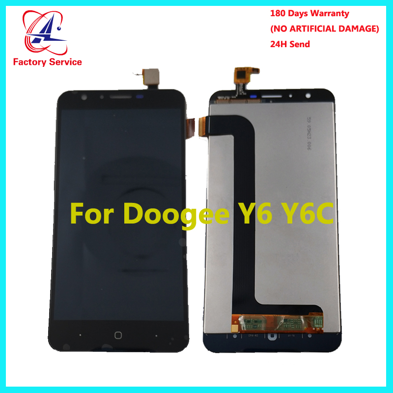 Doogee Y6 LCD Display Touch Screen 100 Original Tested LCD Digitizer Glass Panel Replacement 5 5