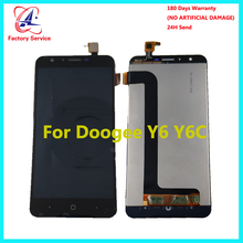Doogee Y6 ЖК-дисплей Дисплей + Сенсорный экран 100% оригинал испытания ЖК-дисплей планшета Стекло Панель Замена 5,5 дюйма Для Doogee Y6C в наличии