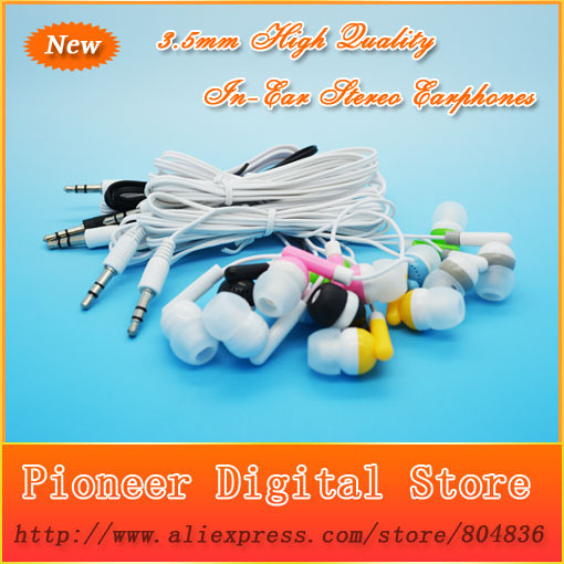 Hot Sell 100pcs lot Newest Fashion High Quality 3 5mm Earphone Headphone For MP3 MP4 Free