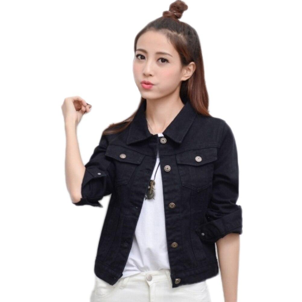 Women Denim   Jacket   Coat Women Autumn Casual Turn Down collar Jeans Outerwear Coat Female Spring Ladies   basic     Jackets