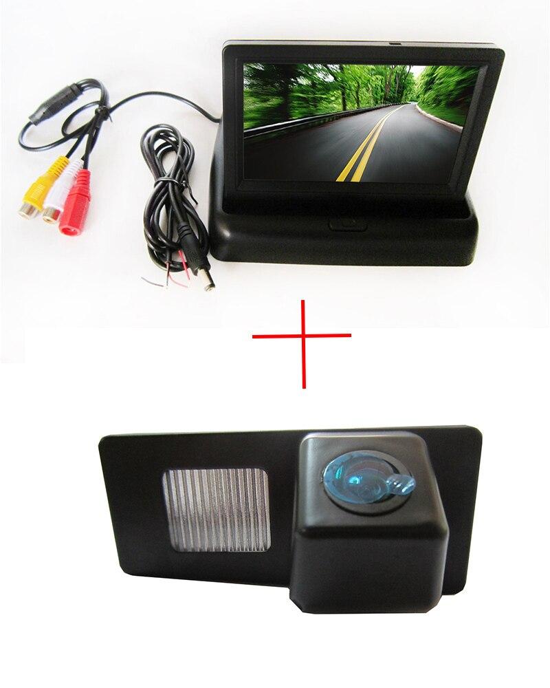 CCD вид сзади автомобиля Камера Для SsangYong Rexton Ssang Yong <font><b>Kyron</b></font>, с 4.3 дюймов складной ЖК-дисплей Мониторы
