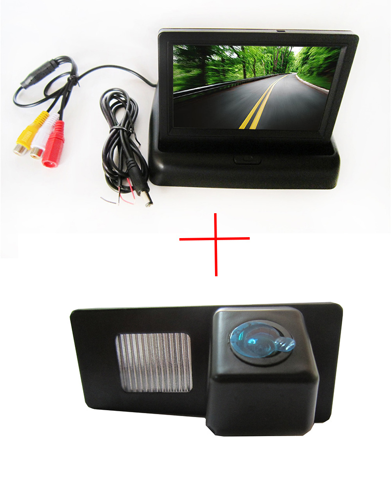 CCD Car Rear View Camera for Ssangyong Rexton Ssang yong <font><b>Kyron</b></font>,with 4.3 Inch foldable LCD Monitor