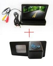 CCD вид сзади автомобиля Камера Для SsangYong Rexton Ssang Yong Kyron, с 4.3 дюймов складной ЖК-дисплей Мониторы