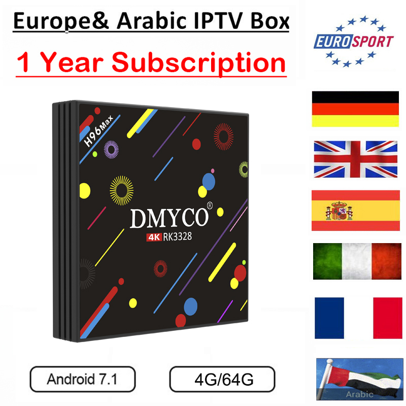 Original H96 Max Europe IPTV Box Arabic/French IPTV UK SPAIN ITALY Germany Portugal 1400 live Channels VOD IPTV Android TV Box original box uk gec 807 vt60 sound super single price