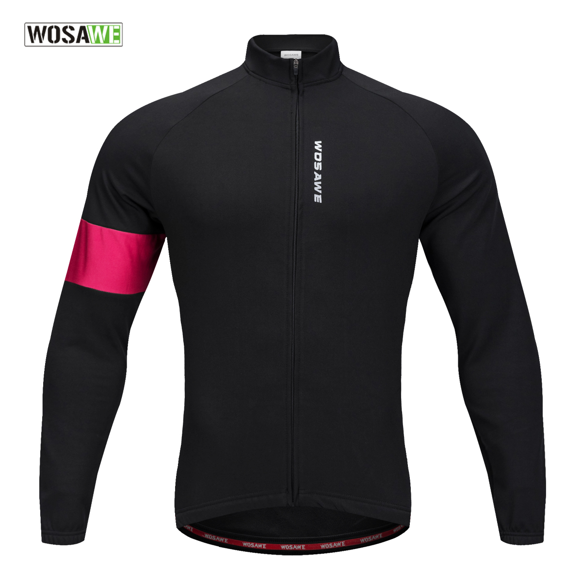 WOSAWE 2018 NEW Cycling Jacket Coat Thermal Fleece Slim Fit Cycling Clothings Long Sleeve Top Quality Bicycle Shirt For Winter 2016 new men s cycling jerseys top sleeve blue and white waves bicycle shirt white bike top breathable cycling top ilpaladin