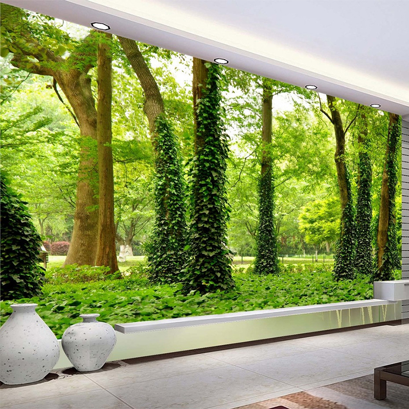 Spatial Extension Personality Wall Mural Wallpaper HD Forest Landscape Background Wall Papel De ...