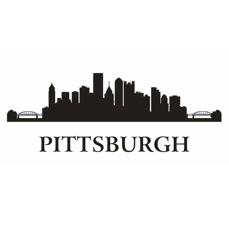 Pittsburgh City Decal Landmark Skyline Wall Stickers Sketch Decals Poster Parede Home Decor Sticker China