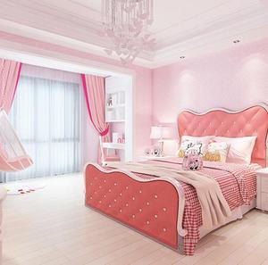 Image 2 - Màu hồng khiêu dâm bố trí phòng dán tường trang trí ký túc xá hình nền màu hồng tự dính phòng ngủ ấm cô gái dán hình nền