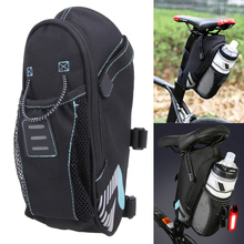 Roswheel Safety Reflective Strip Bicycle Saddle Bag With Water Bottle Pocket Bike Rear Bags Seat Tail Bag Cycling Accessories