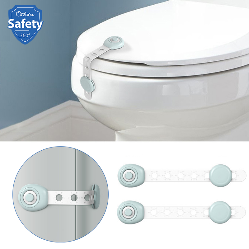 2Pcs Cupboard Locks Refrigerator Toilet Door Closet Locker Baby Safety Lock