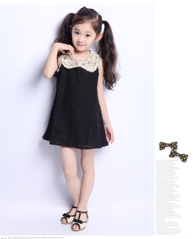 062480d6cfa3 Lovely girl clothes Children Baby Girl Dress Lace Sequins Collar ...