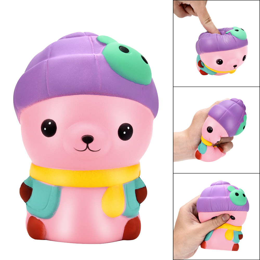 2019 Kawaii New 13cm Squishy Cartoon Bear Slow Rising Scented Squeeze Toy Collection Cure Gift New Freeshipping Hot Sales W521