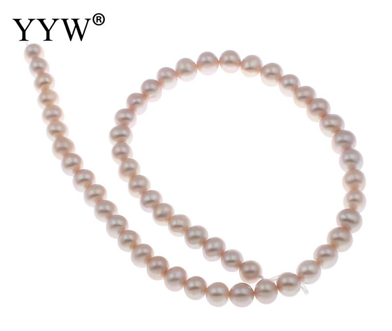 YYW Grade AAA 8 9mm 100% Natural Freshwater Pearl Beads purple Pearl Round Loose Beads For DIY Necklace Bracelat Jewelry Making