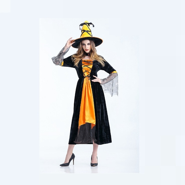 Party Fancy Witch Costumes Witch Cosplay Costume Female Adult Costume Halloween Dress Sexy Witch Costume