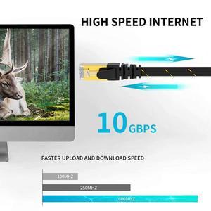 Image 2 - Câble Ethernet AMPCOM RJ45 Cat7 câble Lan STP RJ 45 câble réseau plat cordon de raccordement pour Modem, routeur, TV, tableau de connexions, PC, ordinateur portable