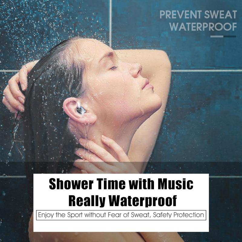 bezo S2 Waterproof bluetooth earphone sport headset wireless in-ear Hifi cordless noise canceling handsfree Mobile phone general