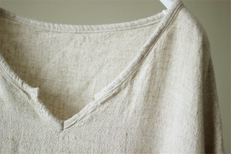 Linen V-Neck Top