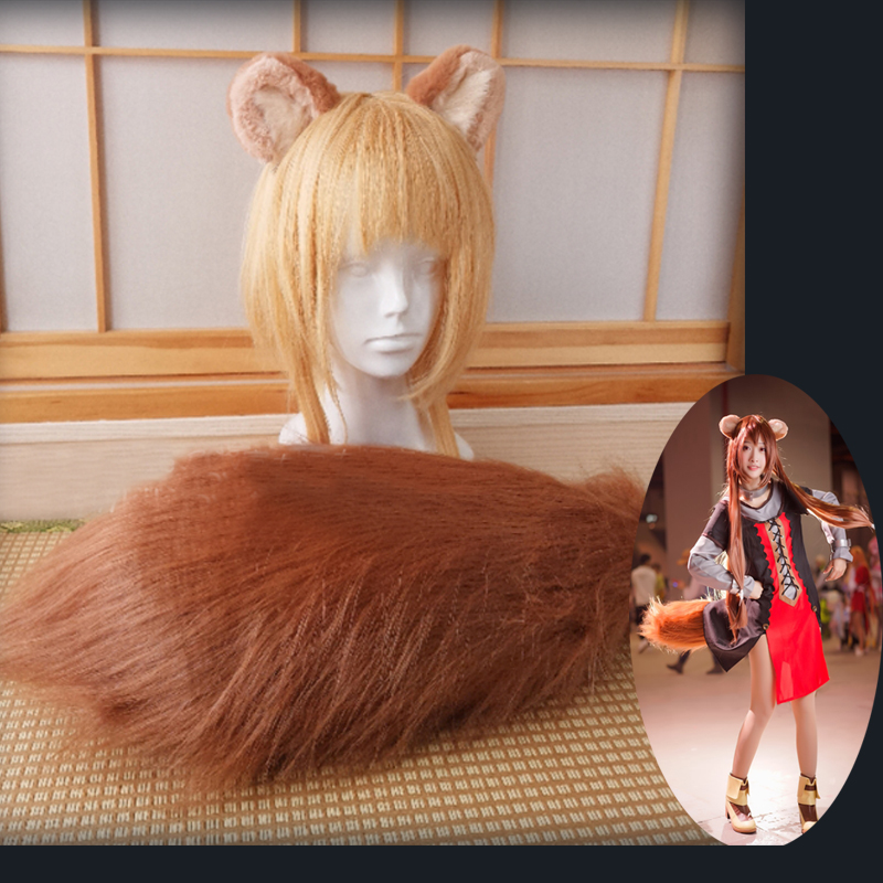 The Rising Of The Shield Hero Raphtalia Cosplay Wig Ears With Tail Cosplay Props Accessories Anime Prop