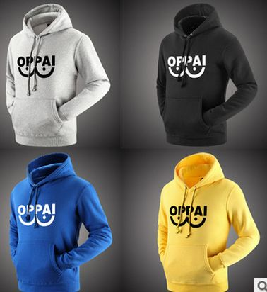 One Punch Man Hoodies Anime One Oppai Hoodies Tide Brand Skateboards Swag Sweatershirt Harajuku Pullover Sudaderas Hombre 6605
