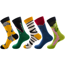 funky socks hip hop calcetines hombre mens long coolmax antideslizante divertido happy cool street style deporte