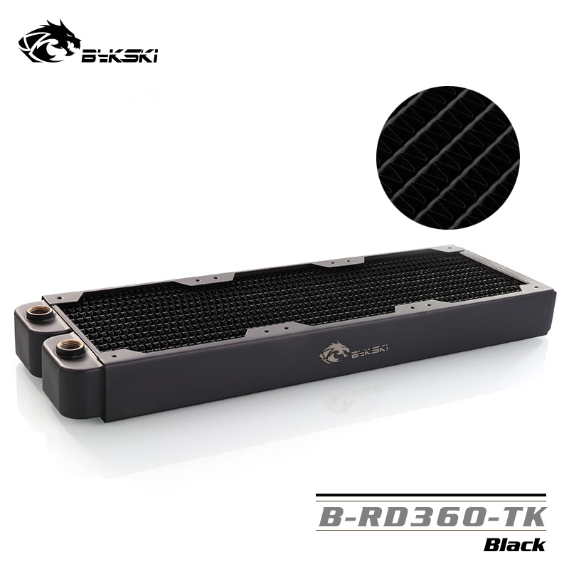 Bykski 360mm Single Row Radiator about 40 Thickness Standard Water Cooling Radiators Compatible pc 12cm Fan