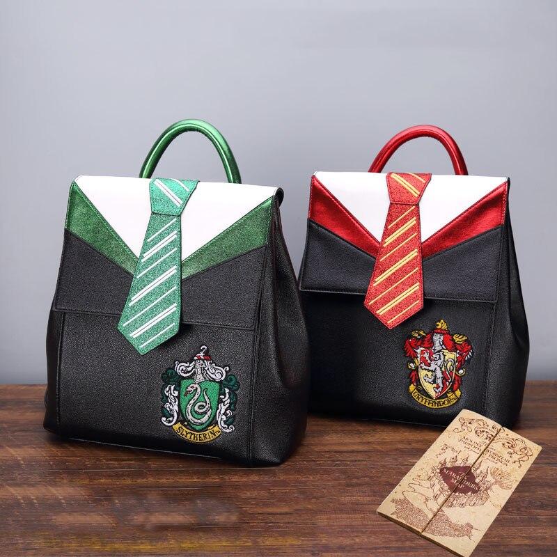 Magic Hogwarts Ravenclaw Slytherin Gryffindor Boy Girl Student School Bag Teenagers Schoolbags Canvas Women Bagpack Men Backpack