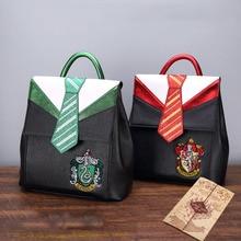 Магический Хогвартс Ravenclaw Слизерин Гриффиндор мальчик Девочка студенческая школьная сумка подростковые школьные сумки холщовый женский рюкзак мужской рюкзак